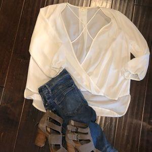 Cute High Low sheer blouse